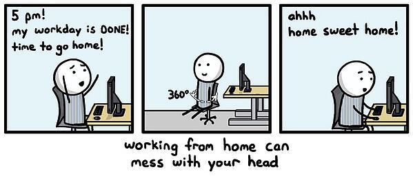 wady pracy w home office